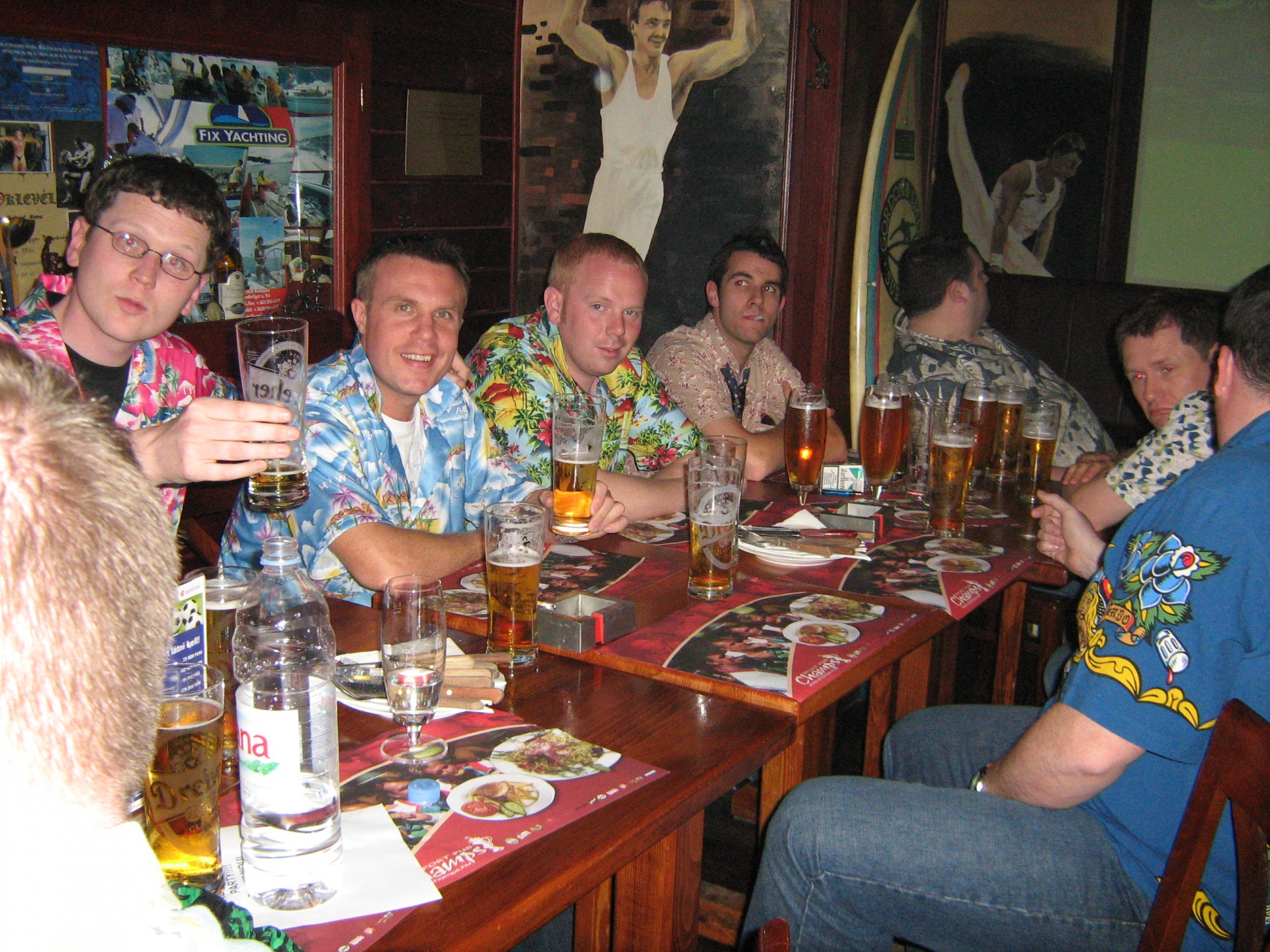 Stag group at meal