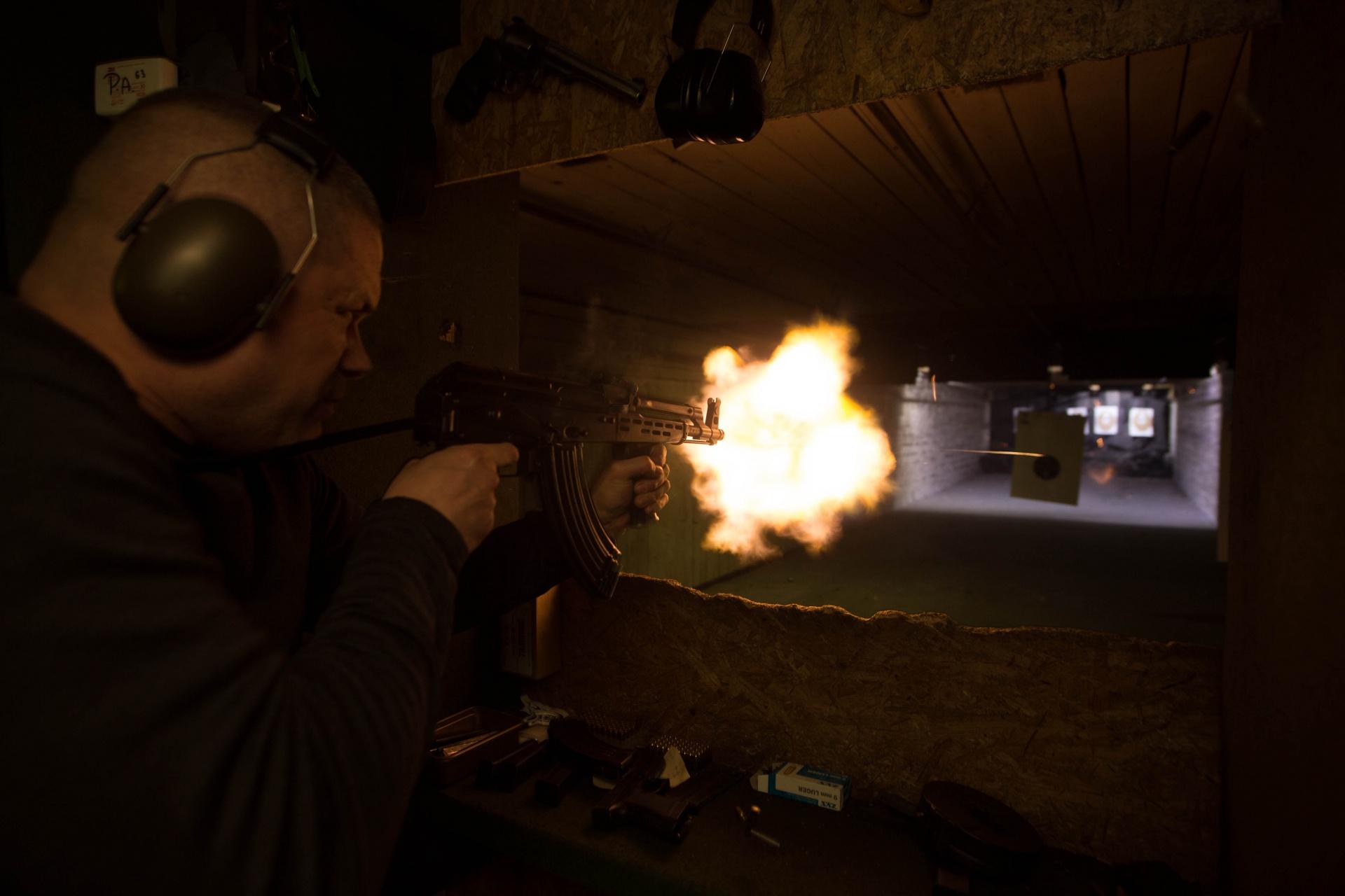 Ak47 firing