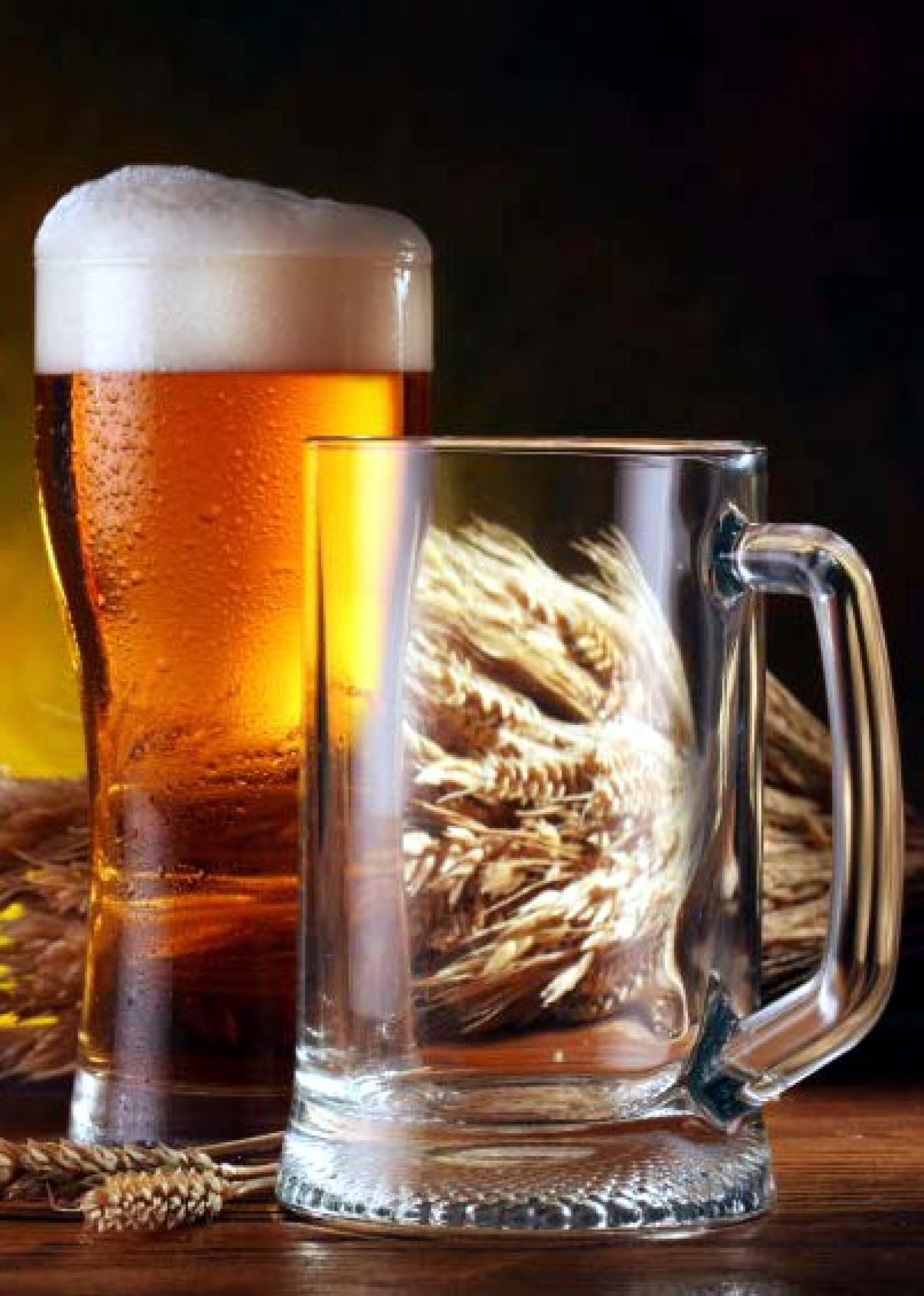 Beer and glass