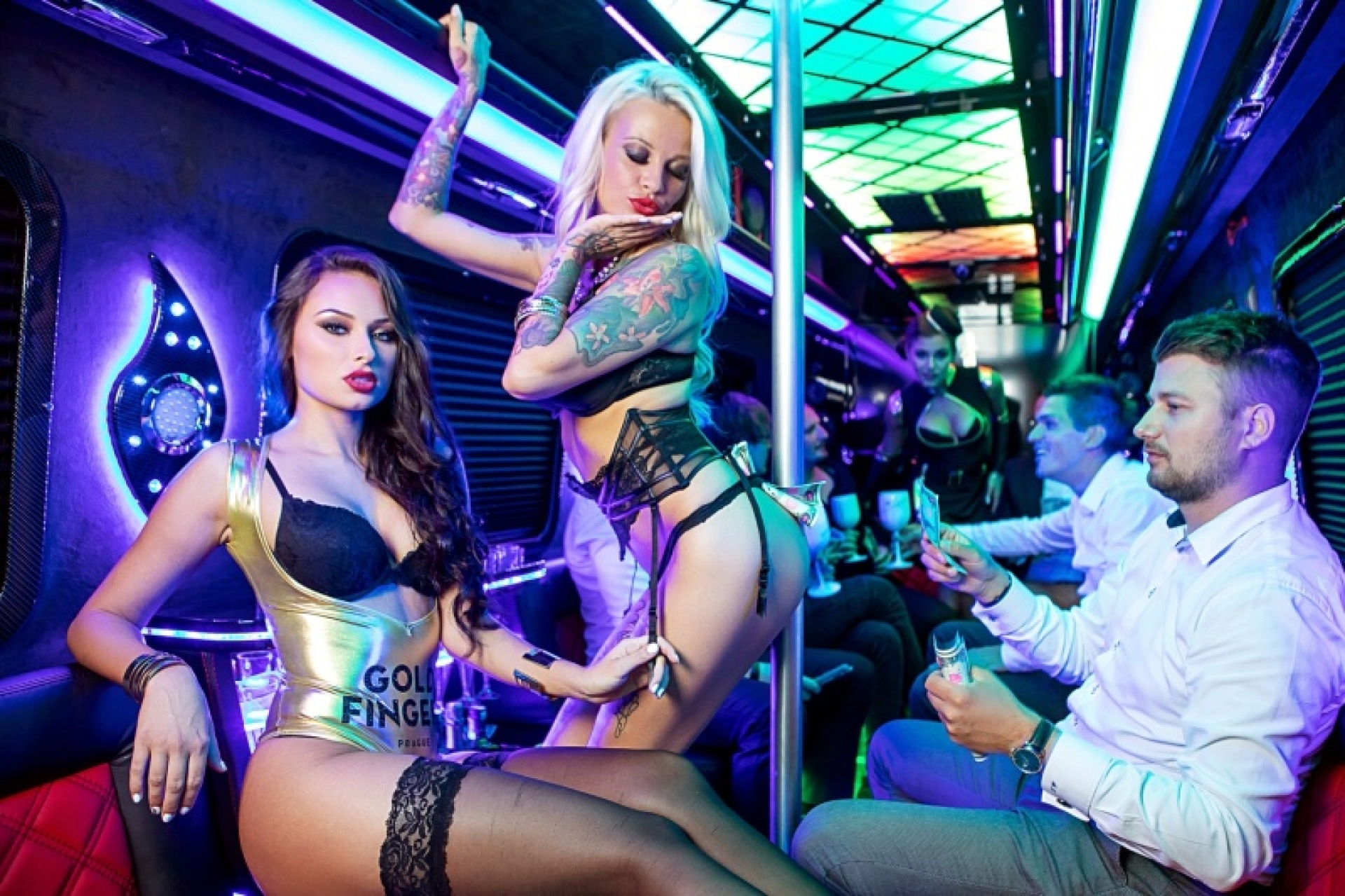 strippers in the VIP Stip Shuttle