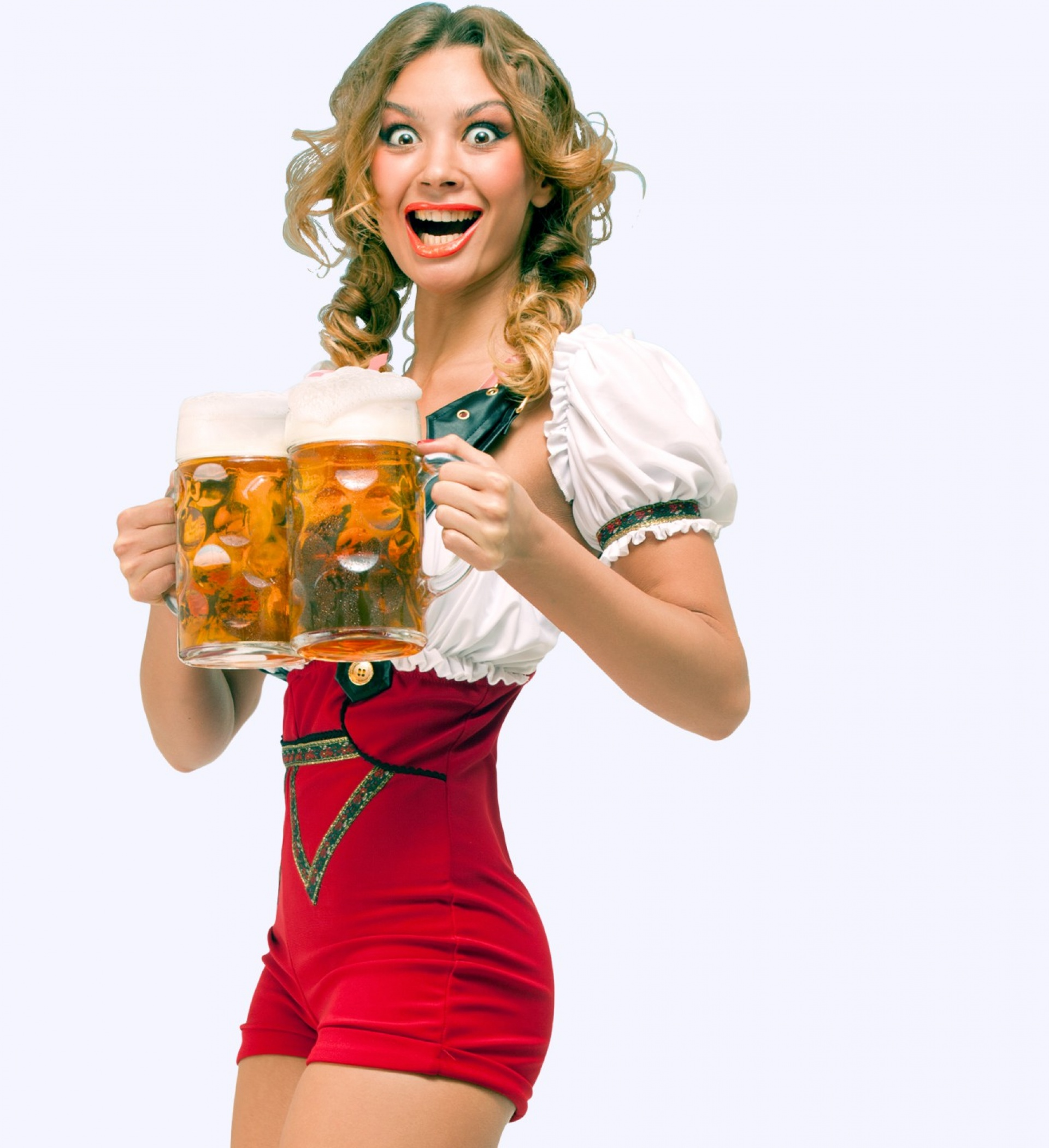 girl holding beers