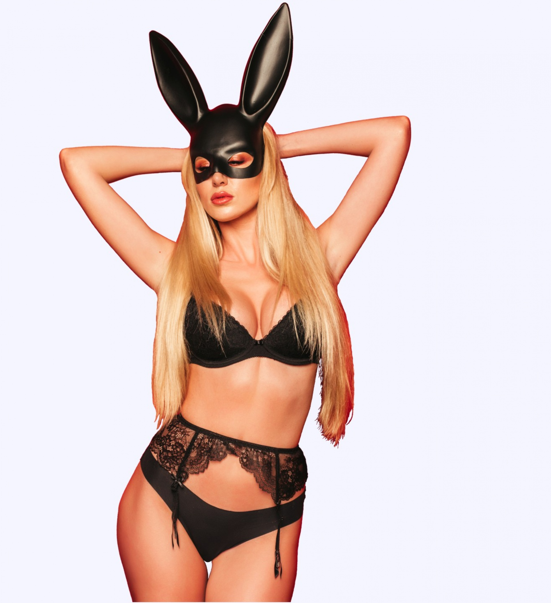 sexy girl with a bunny mask