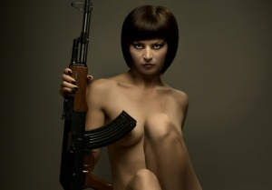 naked girl with ak47