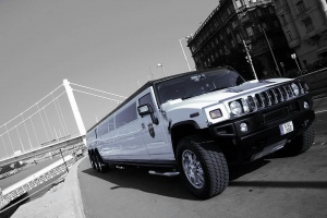 White extra long hummer limo