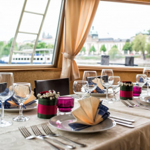 set table on a boat