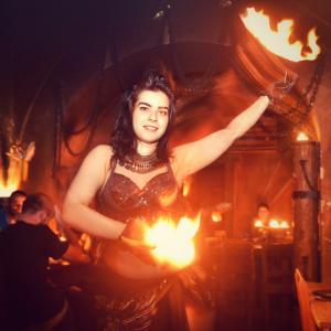 exotic fire dancer