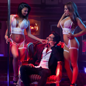 Two strippers and a man