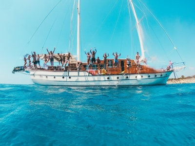 Athens boat party Gulet boat