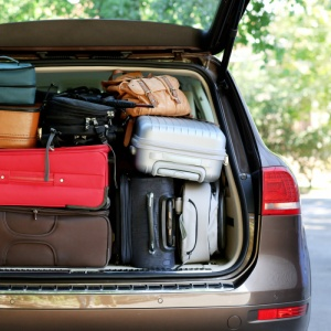 luggage in a car boot