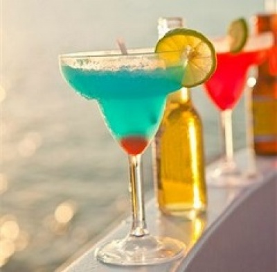 Open bar on a boat