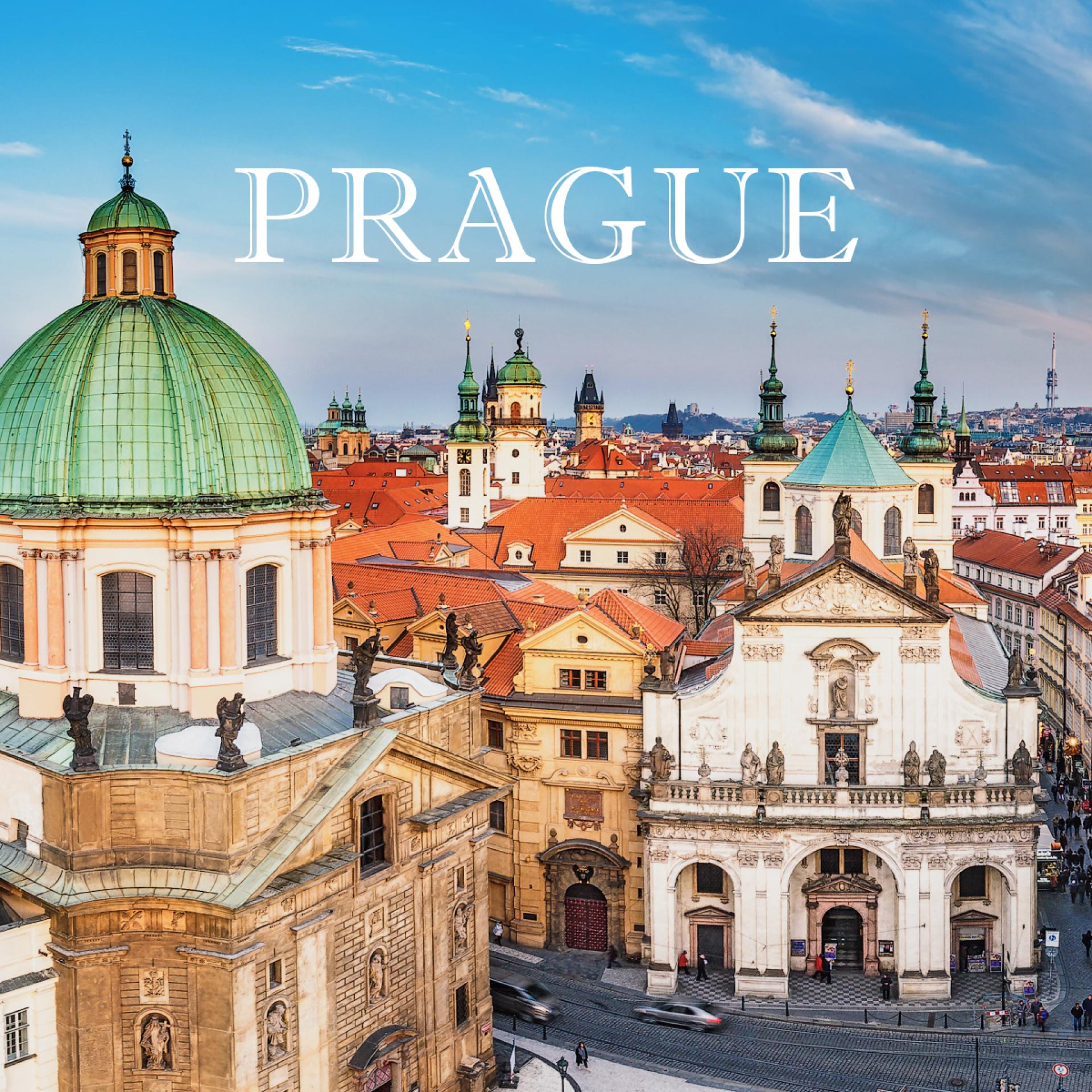 Prague centre panorama