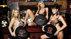 sexy waitresses at bar