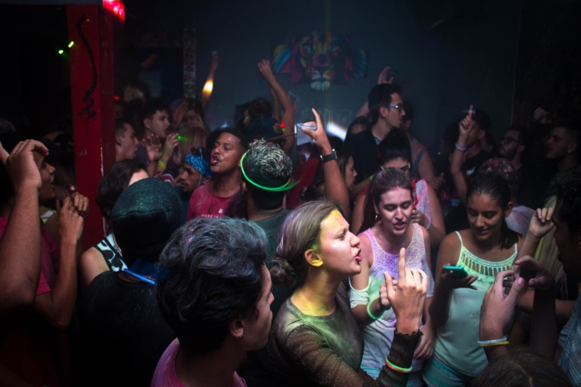 People partying in a club in Athens