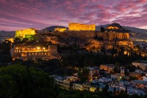 Athens night landscape